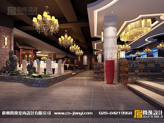 茶餐厅设计,小桥人家茶餐厅设计 - 广州简逸室内设计